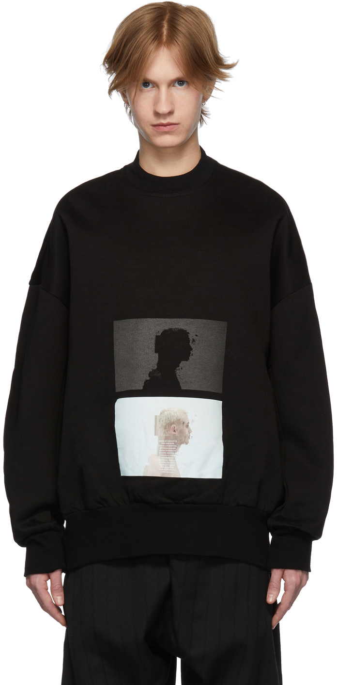 Julius T-shirts Black Graphic Sweatshirt
