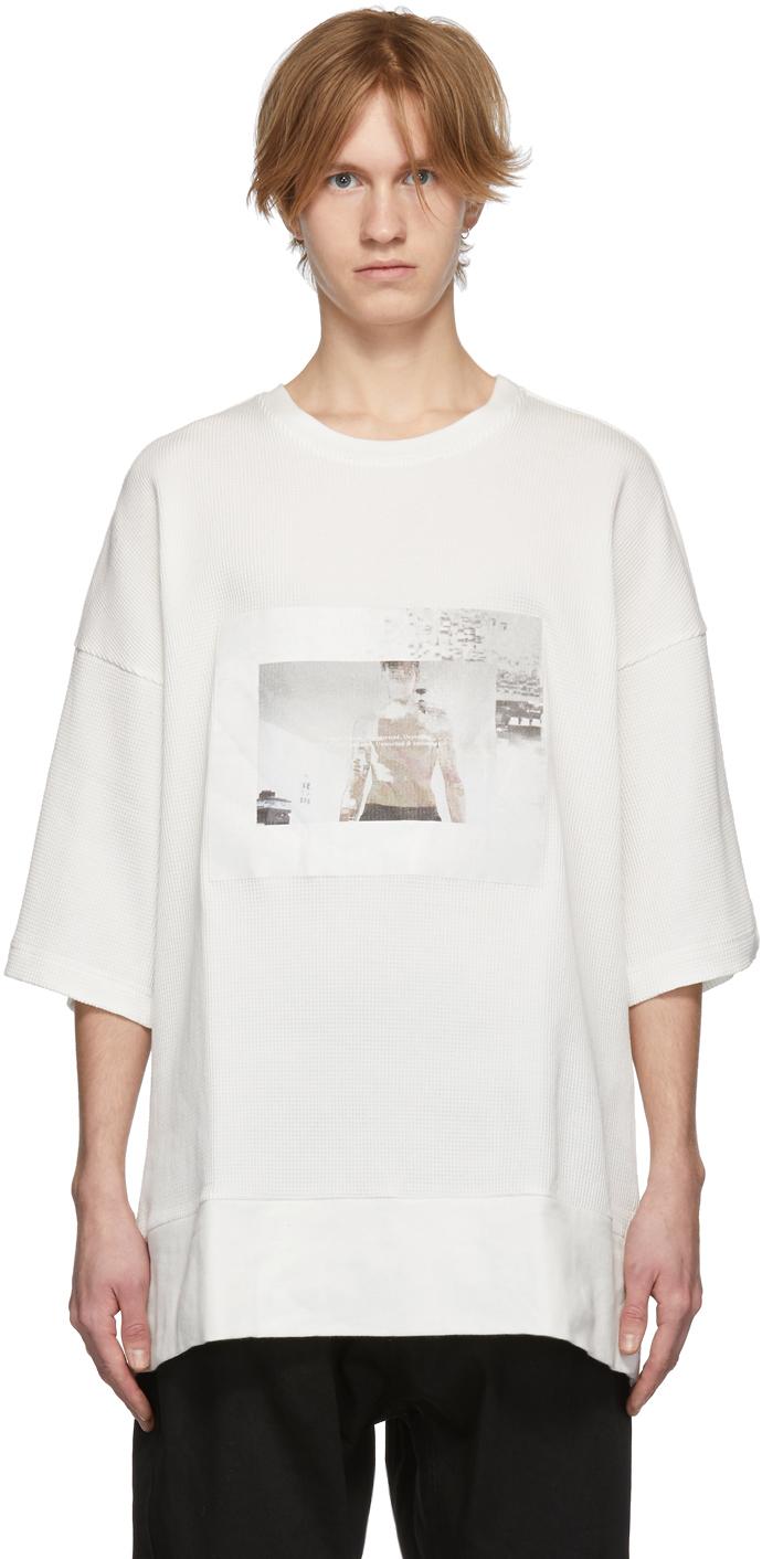 Julius Knits Off-White Waffle Knit T-Shirt