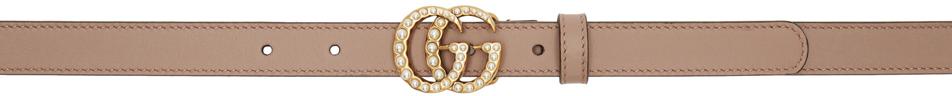 Gucci Belts Brown Pearl GG Belt