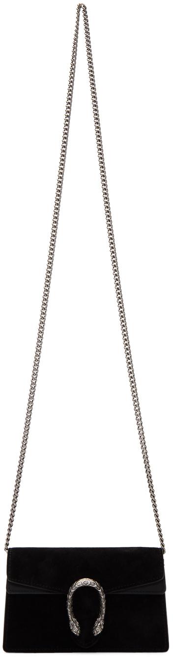 Gucci Bags Black Suede Supermini Dionysus Chain Bag