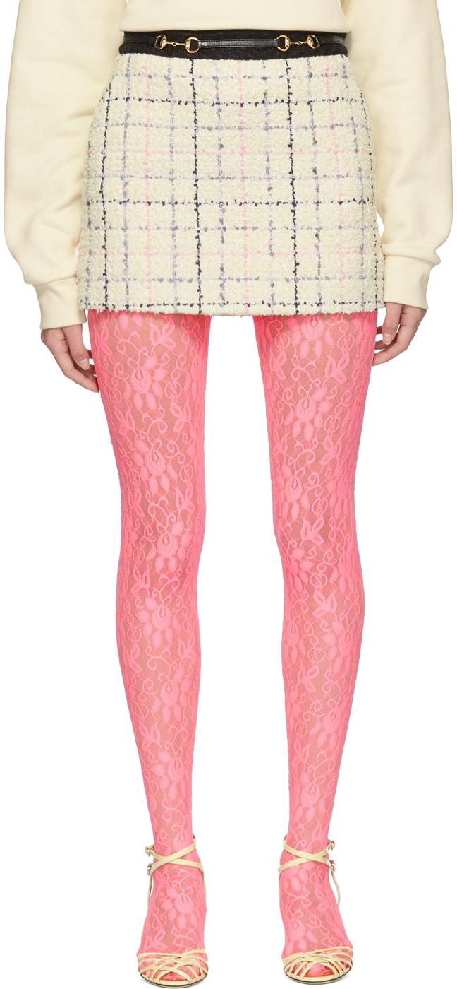 Gucci Shorts Off-White & Pink Miniskirt