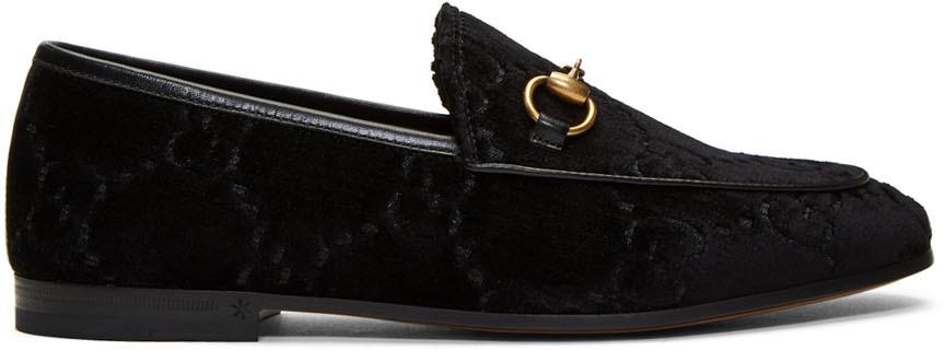 Gucci Loafers Black Velvet Jordaan Loafers