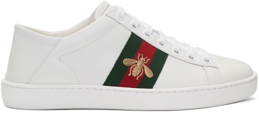 Gucci Sneakers White Leather Ace Sneakers