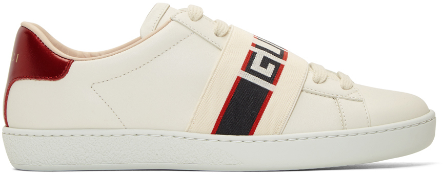 Gucci Sneakers White Elastic Band New Ace Sneakers