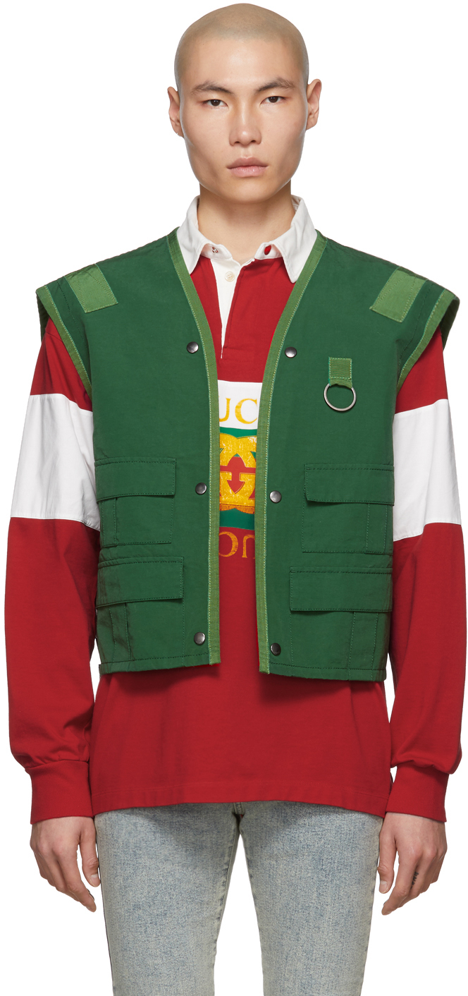 Gucci Tops Green Ring Vest