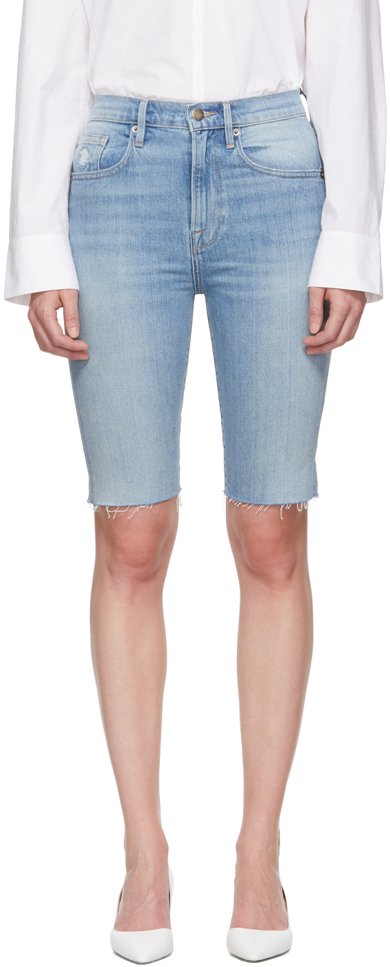 Frame Pants Blue Denim 'Le Vintage Bermuda' Shorts