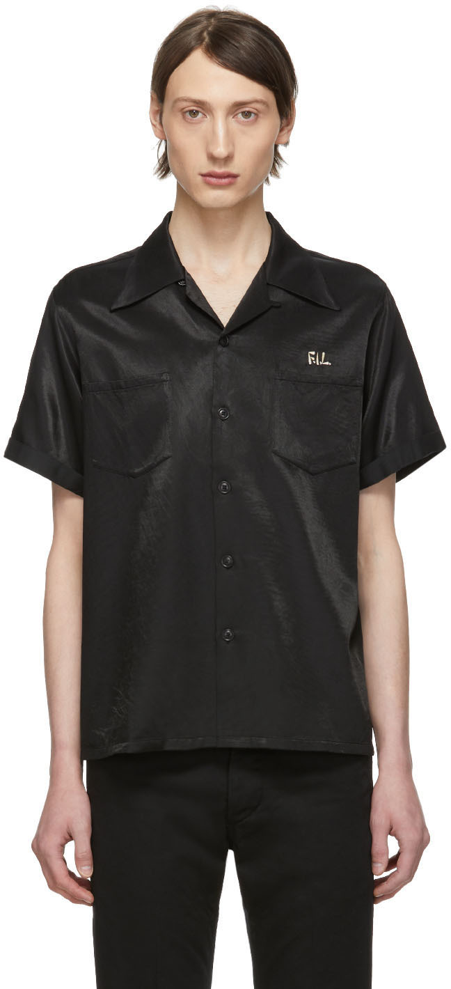 Visvim T-shirts Black Irving Short Sleeve Shirt