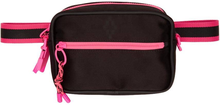 Marcelo Burlon County Of Milan Crossbody Black & Pink Cross Bag