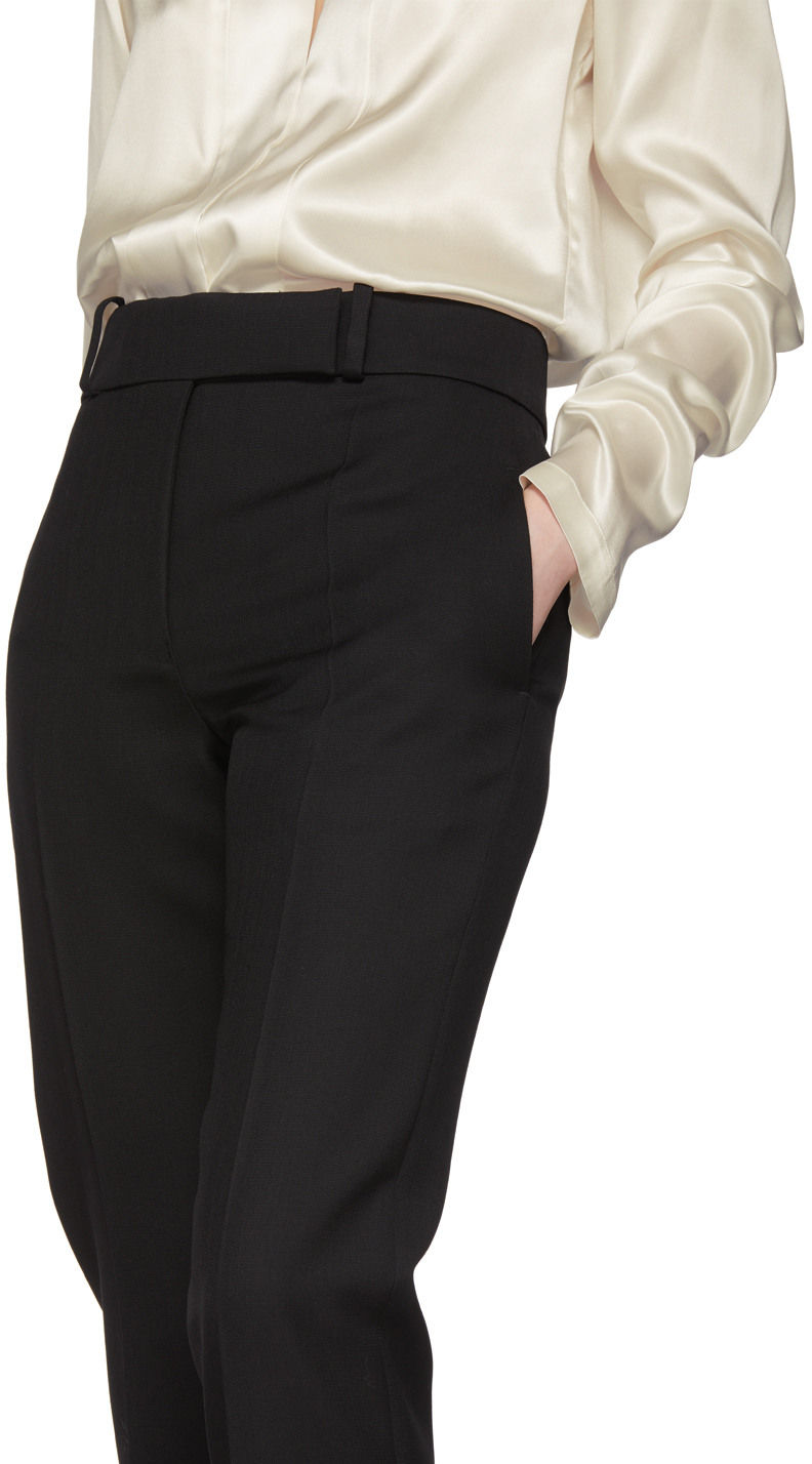 Haider Ackermann Pants Black Wool Classic Calder Trousers