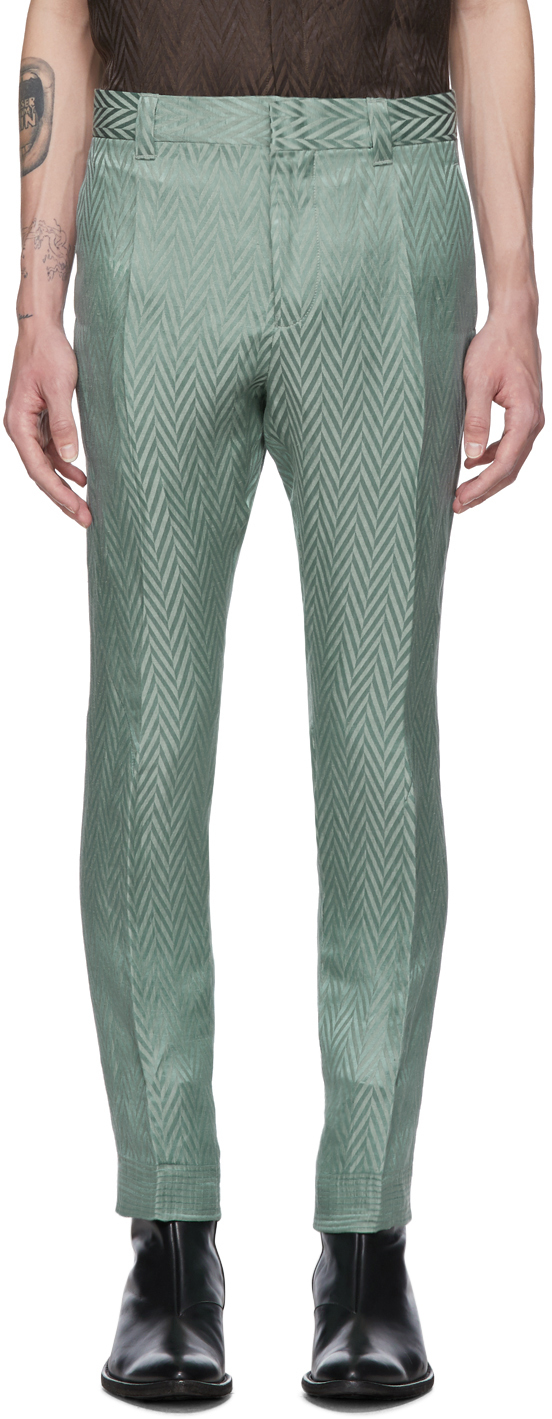 Haider Ackermann Pants Green Athenaes Casual Trousers