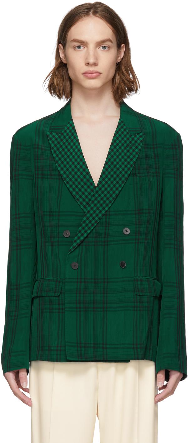 Haider Ackermann Jackets Green Slouchy Blazer