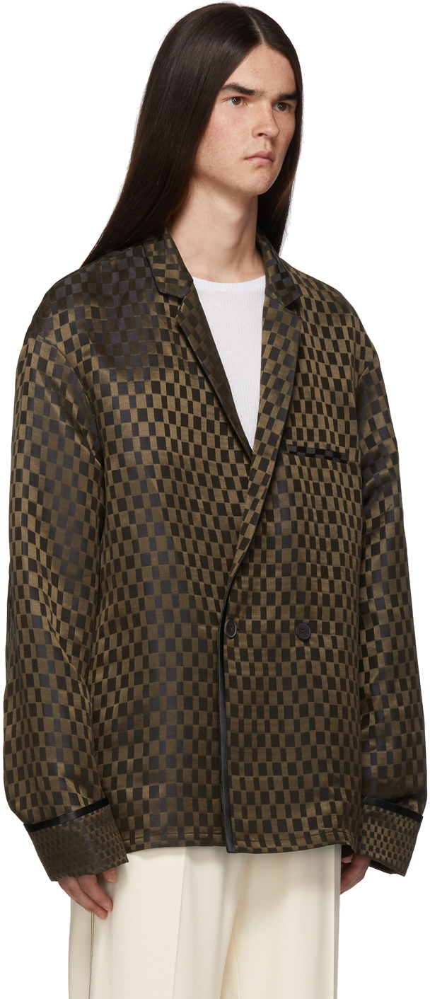 Haider Ackermann Blazers Brown Caraganus Pyjama Blazer