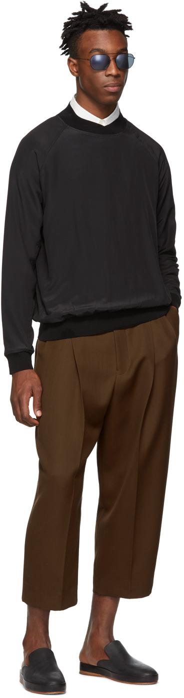 Haider Ackermann T-shirts Black Silk Sweatshirt