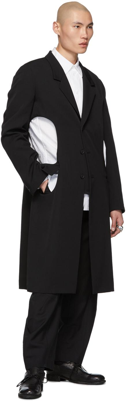 Yohji Yamamoto Coats Black K-Holed Coat