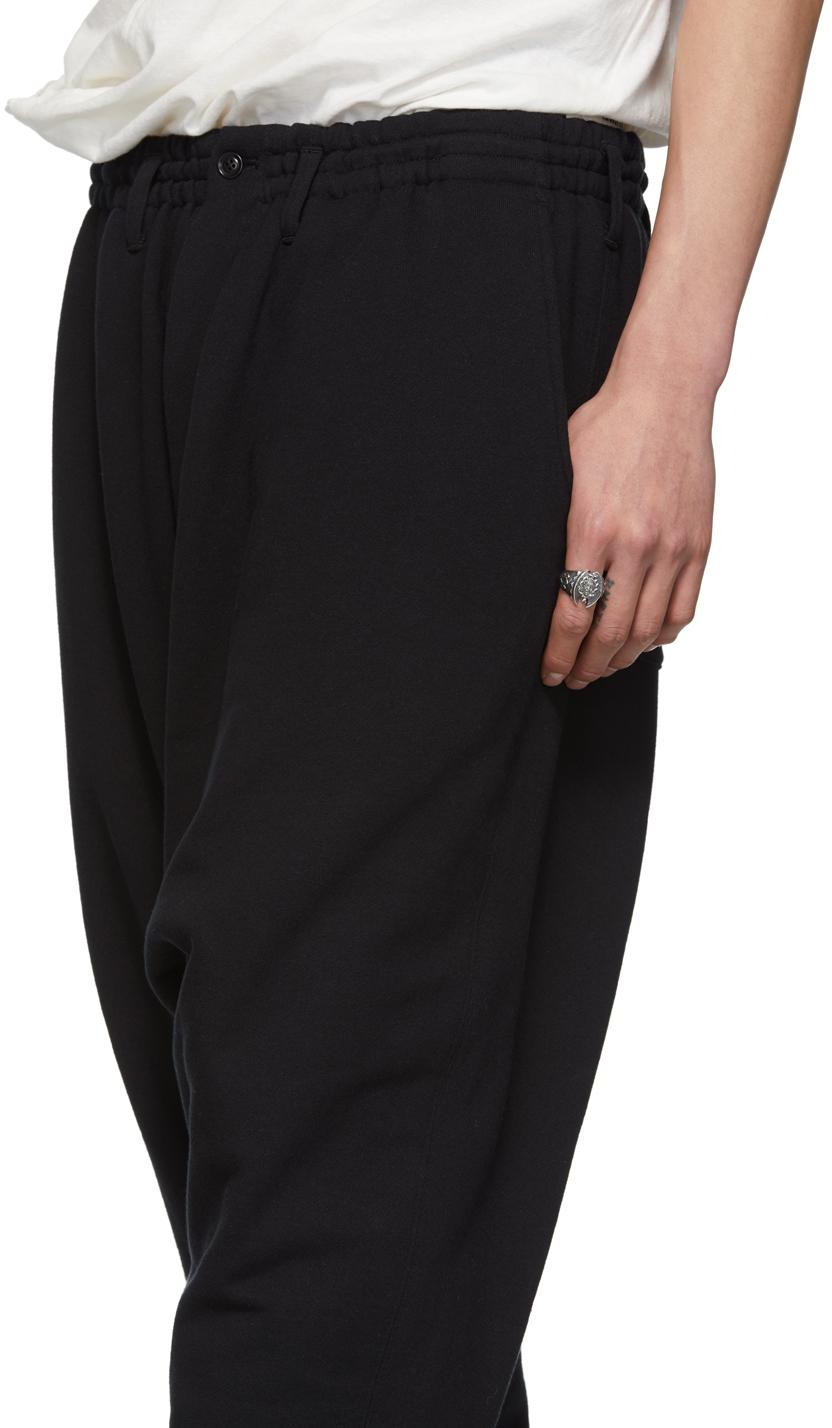 Yohji Yamamoto Pants Black Drop Crotch Lounge Pants