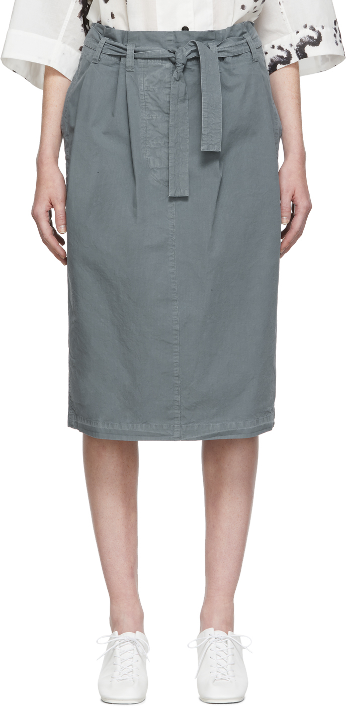 Lemaire Skirts Grey Martial Skirt
