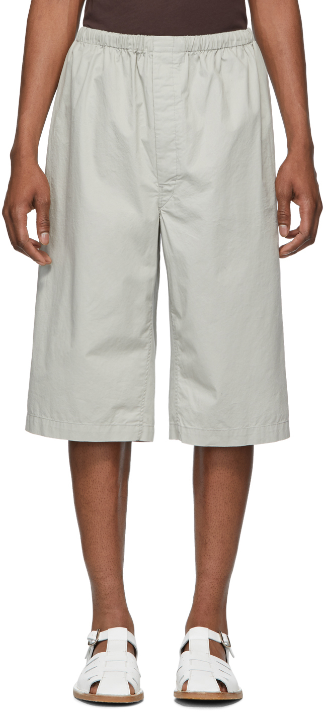 Lemaire Shorts Grey Sunspel Edition Twill Shorts