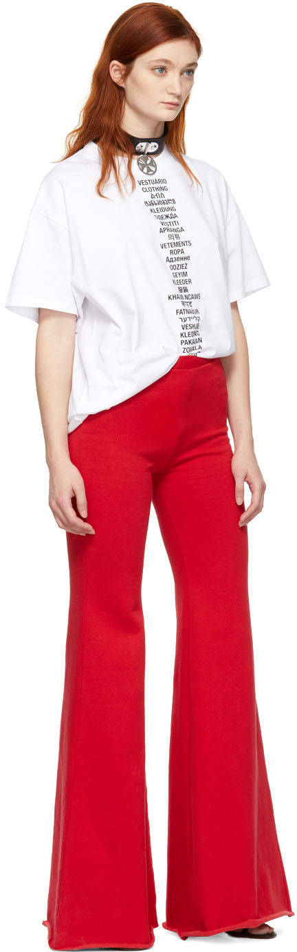 Vetements T-shirts White Translated T-Shirt