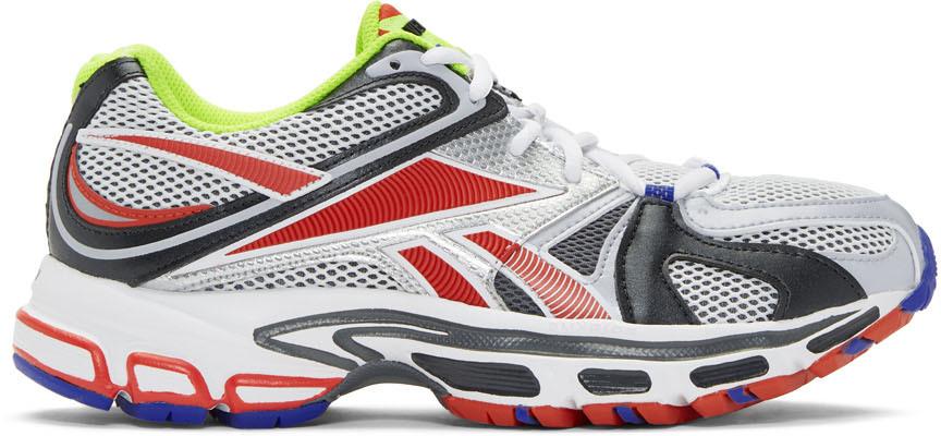 Vetements Sneakers Grey & Red Reebok Edition Spike Runner 200 Sneakers