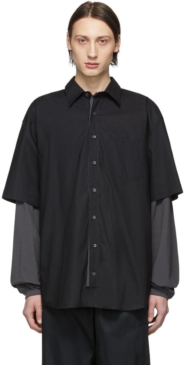 Vetements T-shirts Black 'Happiness' Shirt