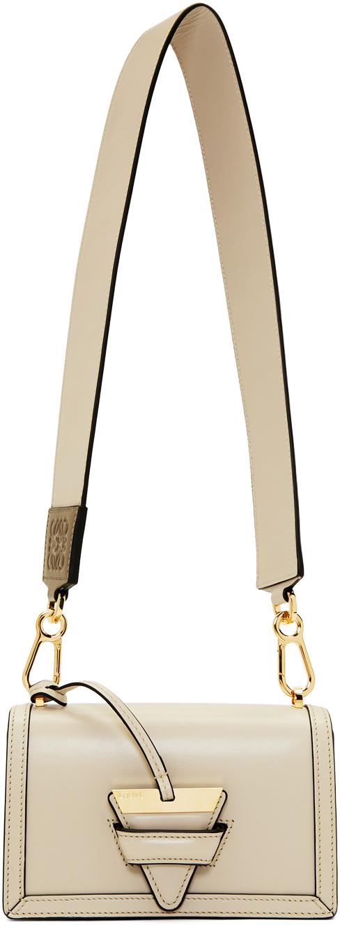 Loewe Shoulder Beige Small Barcelona Bag