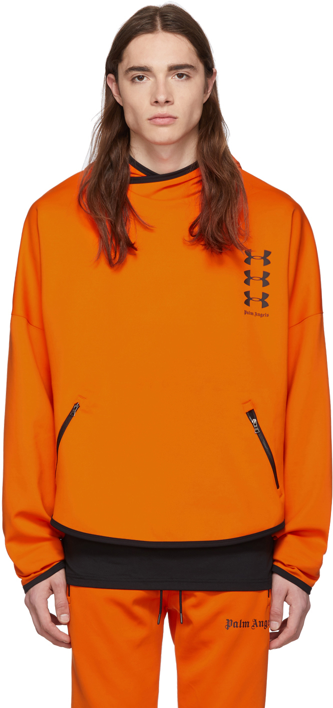 Palm Angels Accessories Orange Under Armour Edition Loose Hoodie