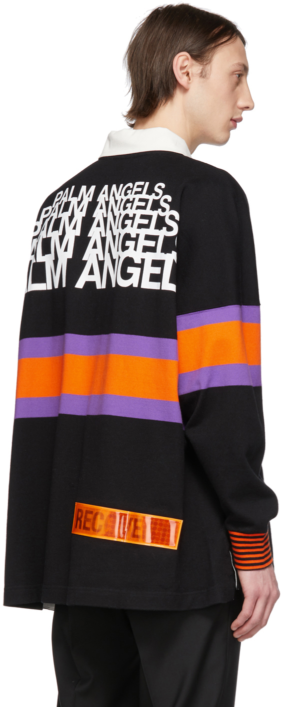 Palm Angels Accessories Black Long Sleeve Polo