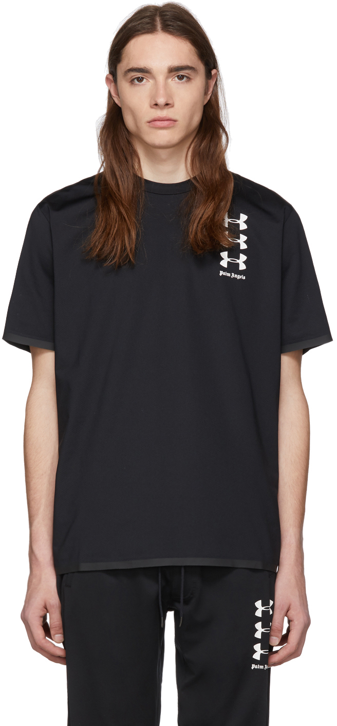 Palm Angels T-shirts Black Under Armour Edition Basic T-Shirt