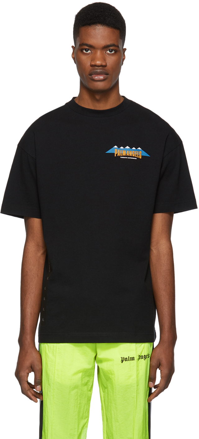 Palm Angels T-shirts Black 'Yosemite Experience' T-Shirt
