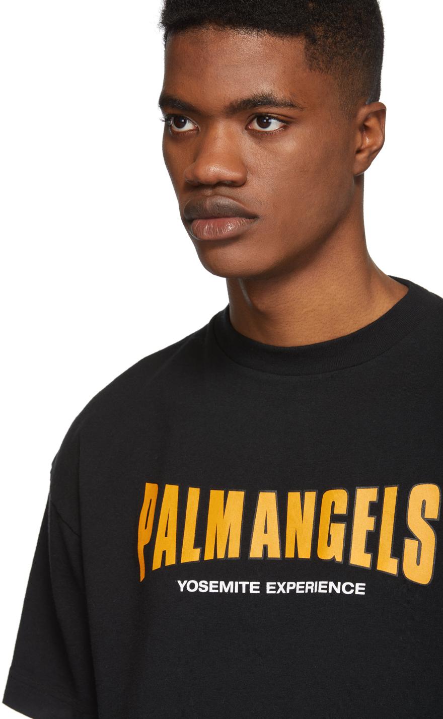 Palm Angels T-shirts Black 'Yosemite Experience' T-Shirt