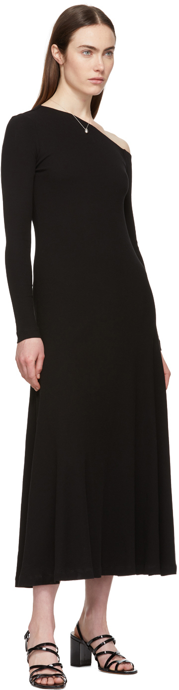 Rosetta Getty Dresses Black Off-Shoulder Flare Dress