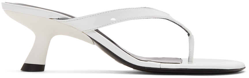 Simon Miller Shoes White Patent Beep Thong 45 Sandals