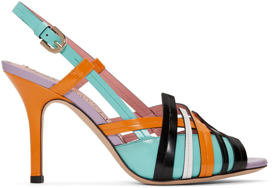 Emilio Pucci Shoes Multicolor Strappy Heeled Sandals