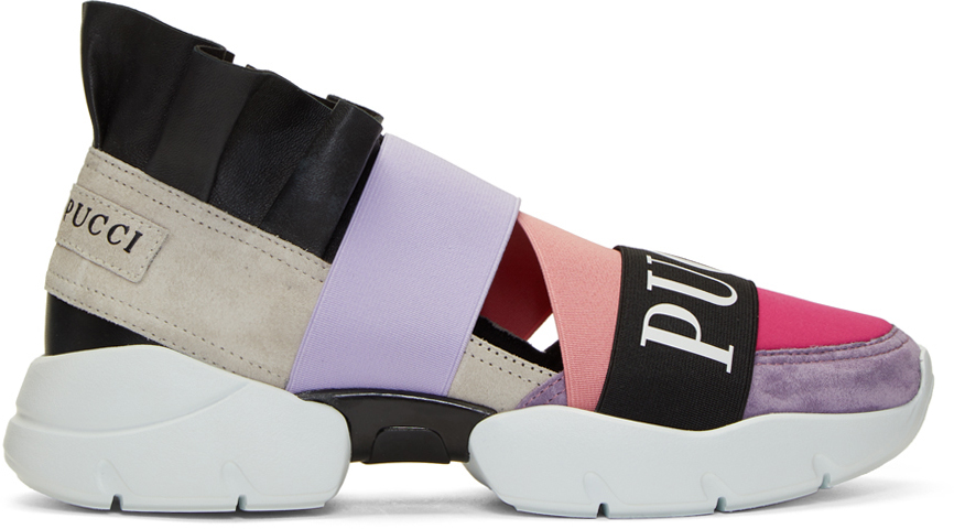 Emilio Pucci Sneakers Pink & Purple City Up Sneakers