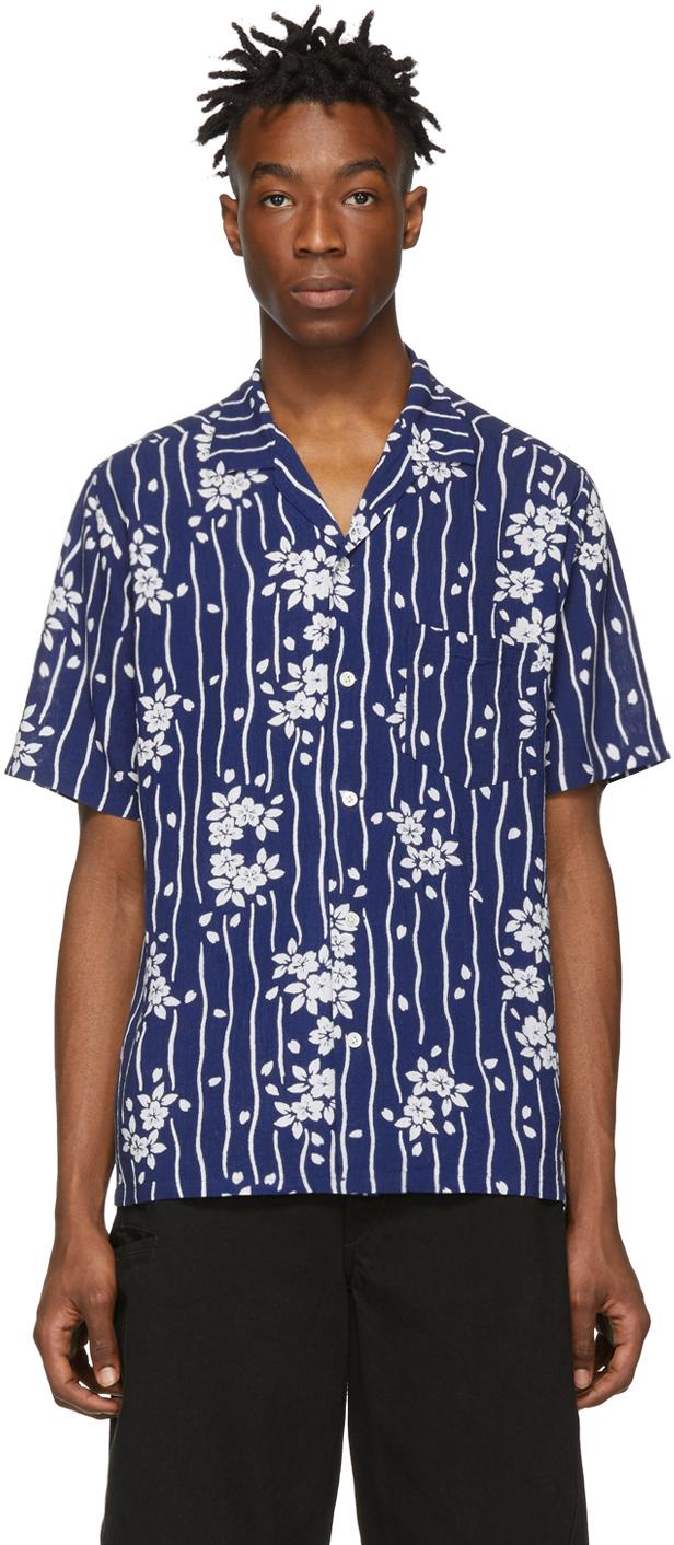 Blue Blue Japan T-shirts Blue Sakura Hanaikada Shirt