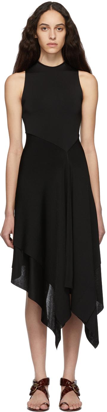 Victoria Beckham Dresses Black Cross Back Asymmetric Dress