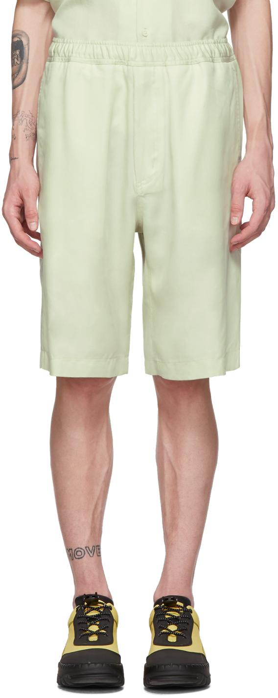 Our Legacy Shorts White Silky Drape Shorts