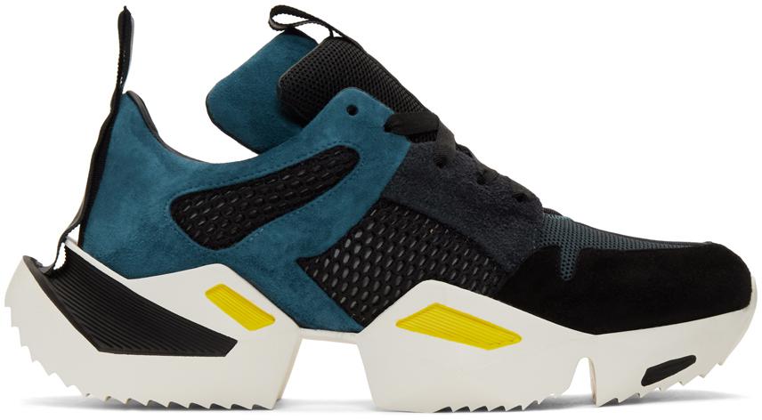 Unravel Sneakers Blue & Black Low Sneakers