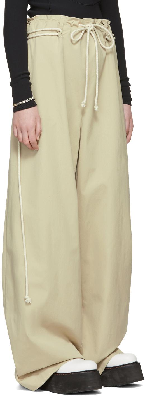 Ambush Pants Beige Drawstring Trousers