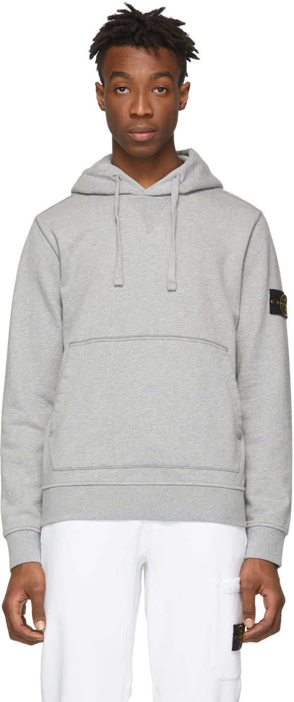 Stone Island Accessories Grey Arm Badge Hoodie