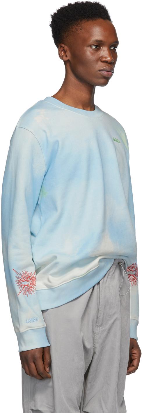 032c T-shirts Blue Cosmic Workshop Sweatshirt