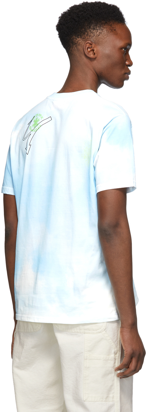 032c T-shirts Blue Cosmic Workshop Tie-Dye T-Shirt