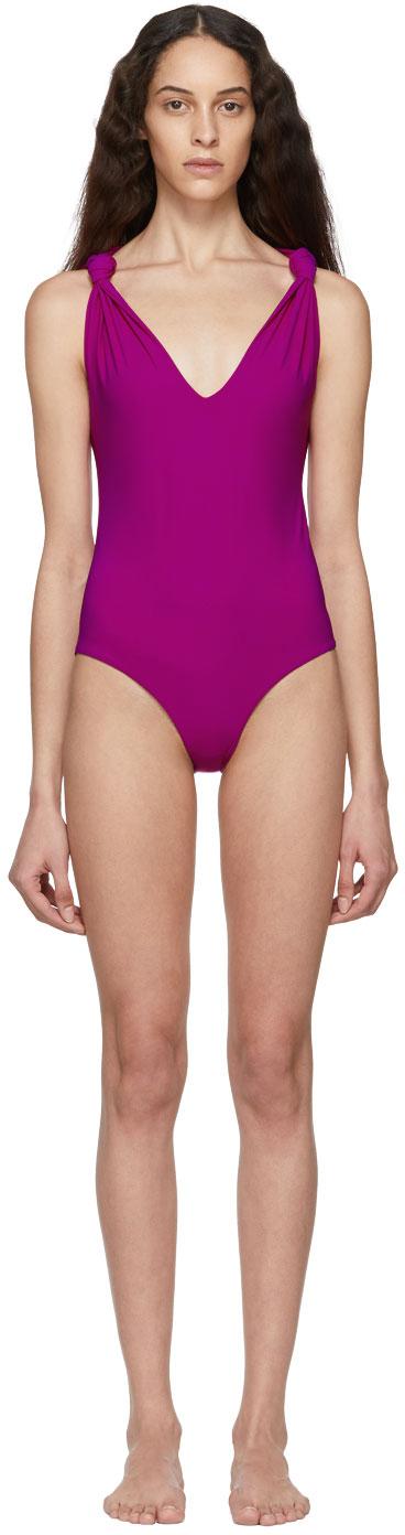 Nanushka Beachwear Pink Fran One-Piece Swimsuit