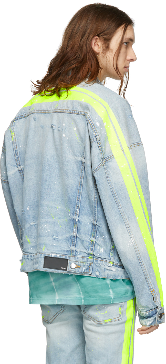 AMIRI Denims Indigo Denim Trucker Jacket