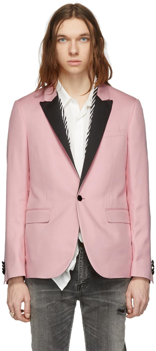 Amiri Blazers Pink Zebra Scarf Blazer