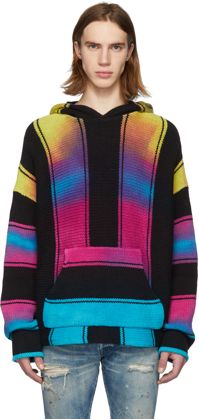 Amiri Accessories Multicolor Rainbow Wide Stripe Baja Hoodie