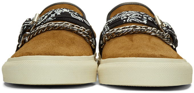 Amiri Sneakers Brown Suede Bandana Sneakers