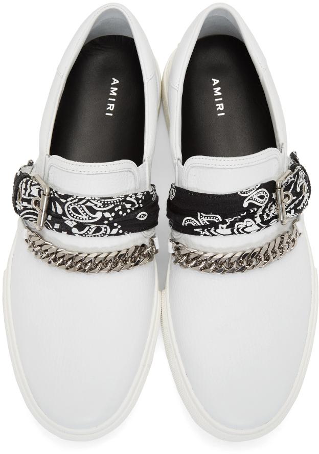 Amiri Sneakers White Bandana Slip-On Sneakers