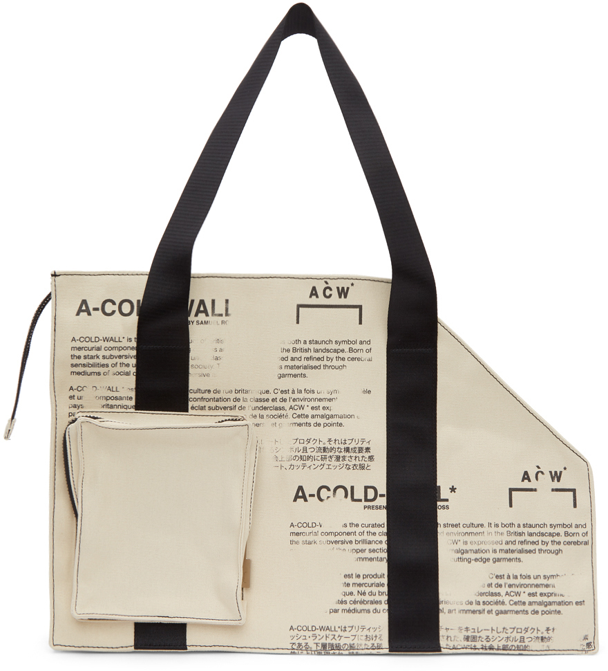 A-Cold-Wall* Totes Off-White Canvas V2 Tote