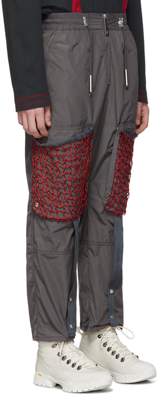 A-Cold-Wall* Pants Grey Mesh Pocket Cargo Pants